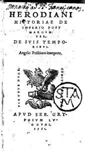 Herodiani historiae de imperio post Marcum, vel de suis temporibus