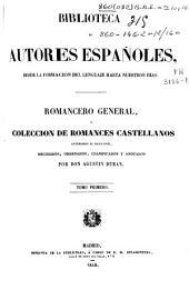 Romancero general ó colección de romances castellanos anteriores al siglo XVIII: (XCVI, 600 p.)