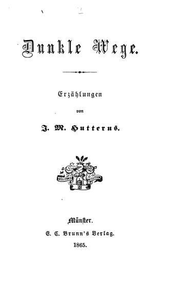 Dunkle Wege PDF