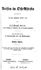 Reisen in Ost-Afrika: ausgeführt in den Jahren 1837-1855, Band 2