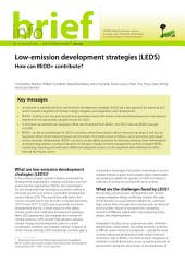 Low-emission development strategies (LEDS): How can REDD+ contribute?