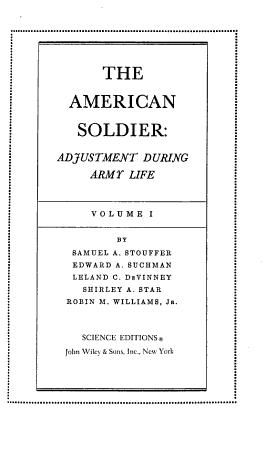 Studies in Social Psychology in World War II     PDF