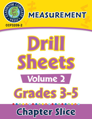 Measurement  Drill Sheets Vol  2 Gr  3 5