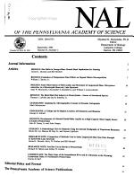 Journal of the Pennsylvania Academy of Science PDF