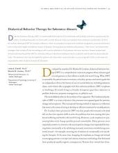 "Dialectical Behavior Therapy for Substance Abusers: A Reprint from ""Addiction Science and Clinical Practice"""