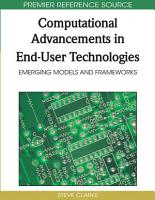 Computational Advancements in End User Technologies  Emerging Models and Frameworks PDF