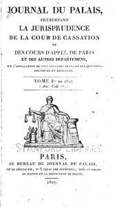 Journal du palais: Volume1