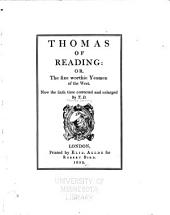 Thomas of Reading, Or, The Sixe Worthie Yeomen of the West