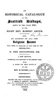An Historical Catalogue of the Scottish Bishops  Down to the Year 1688 PDF