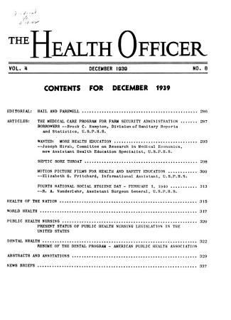 The Health Officer PDF
