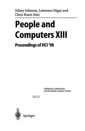 People and Computers XIII