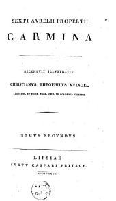 Sexti Aurelii Propertii Carmina: Volume 2