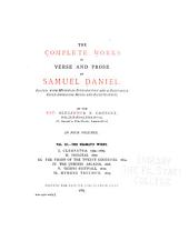 The Complete Works in Verse and Prose of Samuel Daniel: Volume 3