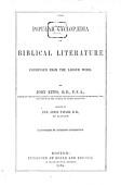 The Popular Cyclopadia Of Biblical Literature