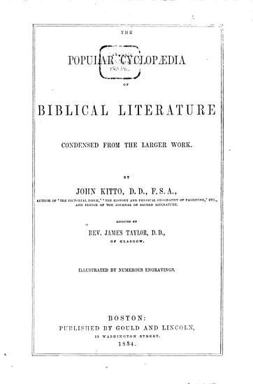 The Popular Cyclopadia of Biblical Literature PDF