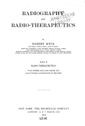 Radiography and Radio-therapeutics: Volume 2