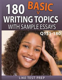 180 Basic Writing Topics with Sample Essays Q151 180 PDF