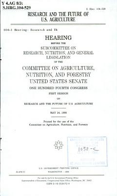 Research and the Future of U S  Agriculture PDF