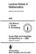 Download Ecole d Ete de Probabilites de Saint Flour X  1980 Book
