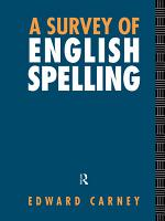 A Survey of English Spelling PDF