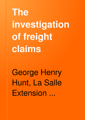 The Investigation of Freight Claims