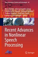 Recent Advances in Nonlinear Speech Processing PDF