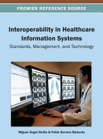 Interoperability in Healthcare Information Systems  Standards  Management  and Technology PDF