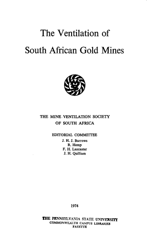 The Ventilation of South African Gold Mines