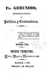 Fr. Gerundio: Periódico satírico de política y costumbres, Volumen 7