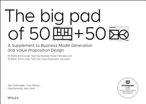 The Big Pad of 50 Blank  Extra Large Business Model Canvases and 50 Blank  Extra Large Value Proposition Canvases