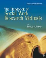 The Handbook of Social Work Research Methods PDF