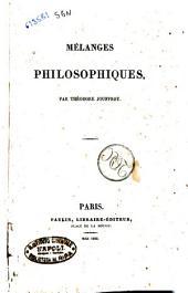 Melanges philosophiques par Theodore Jouffroy