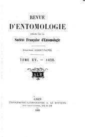 Revue d'entomologie: Volume15
