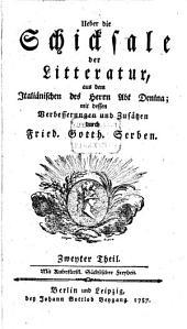 Über die Schicksale der Litteratur: Band 2
