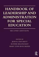 Handbook of Leadership and Administration for Special Education PDF