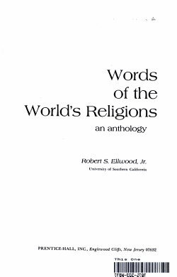 Words of the World s Religions PDF