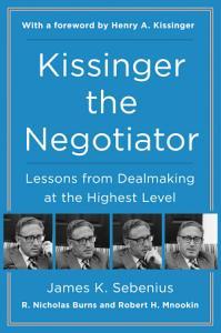 Kissinger the Negotiator Book