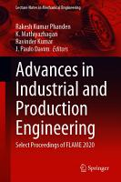Advances in Industrial and Production Engineering PDF