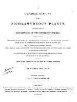 A General History of the Dichlamydeous Plants