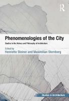 Phenomenologies of the City PDF