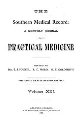 The Southern Medical Record PDF