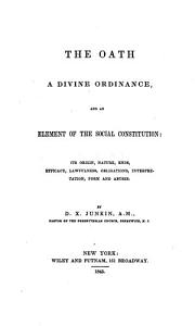 The Oath a Divine Ordinance PDF