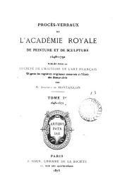 Procès-verbaux ... 1648-1792 publ. par A. de Montaiglon