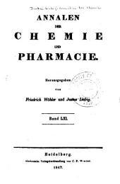 Justus Liebig's Annalen der Chemie: Bände 61-62