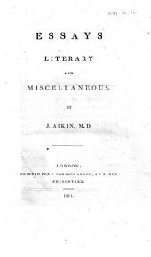 Essays literary and miscellaneous