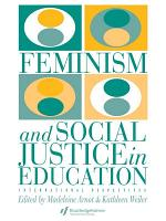 Feminism And Social Justice In Education PDF