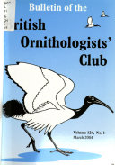 Download Bulletin of the British Ornithologists  Club Book