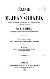 Éloge de M. Jean Girard, etc