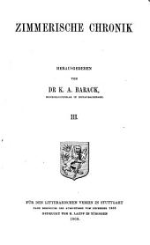 Zimmerische Chronik: Band 93