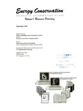 Energy Conservation: Technical Information Guide, Volume 1